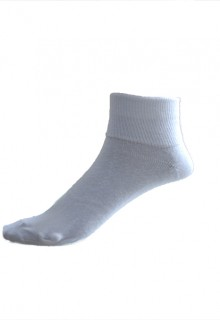 White Non Fold Over Ankle Socks