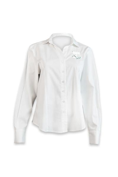 Brescia House Girls White Long Sleeve Shirt