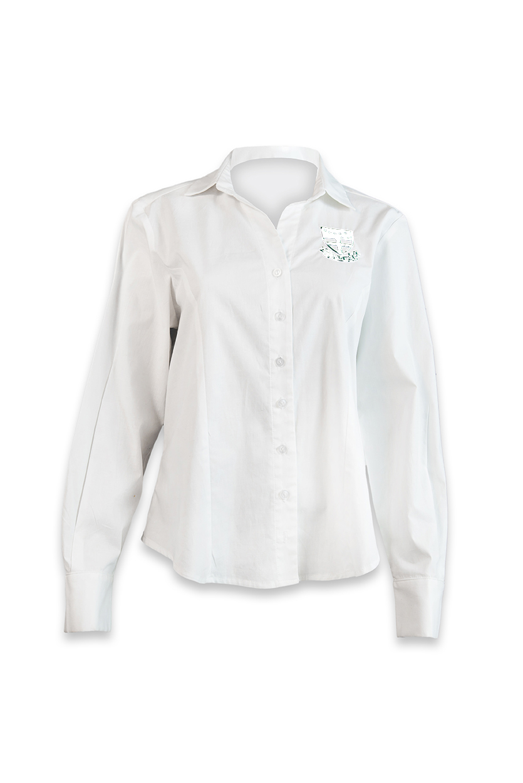 Brescia House Girls White Long Sleeve Shirt Mac School